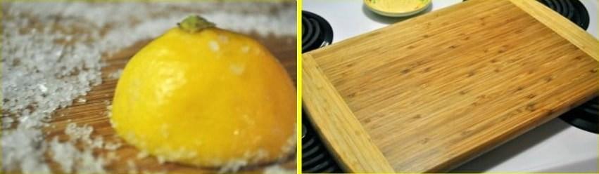 Use lemons and Kosher salt