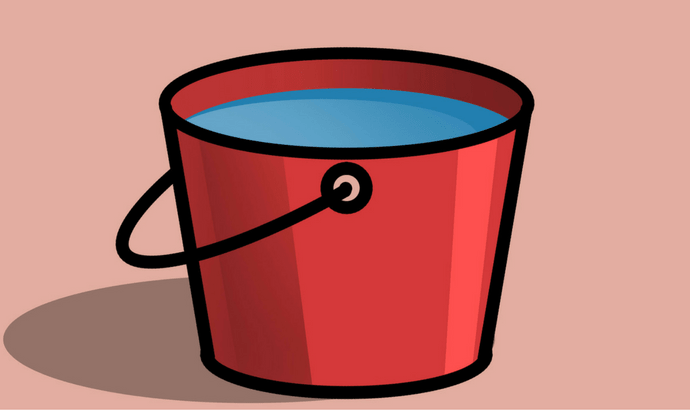 Fill a container with hot water.