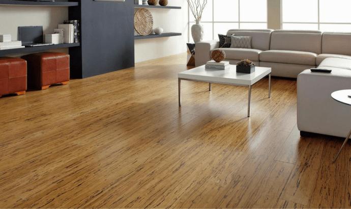 Dry the laminate floor.