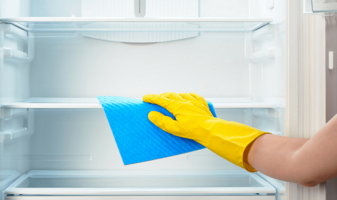 Wipe within the fridge with your favored cleaning arrangement