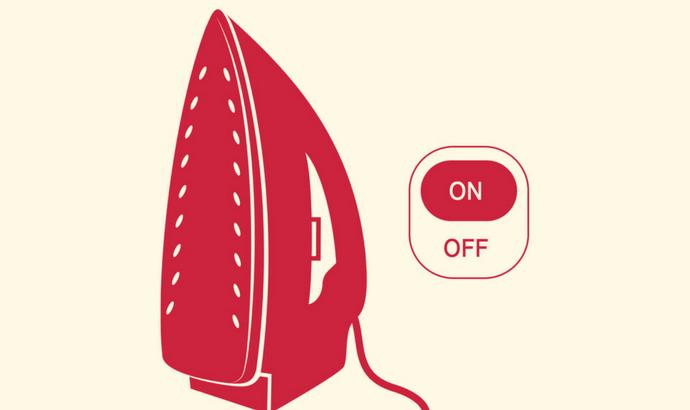 Turn on the iron