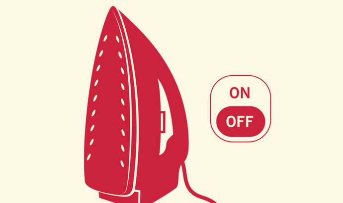 Turn off the iron and let it cool.